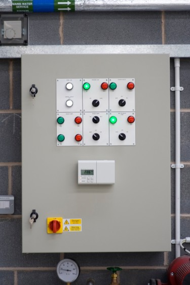 Central Heating Control Panel - copyright PKM1